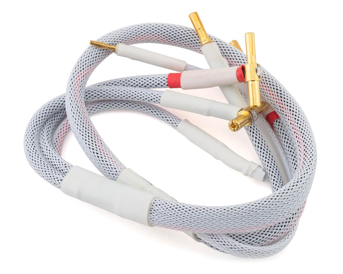 Trinity 2S Pro Charge Cables w/4mm & 5mm Bullet Connector (White)