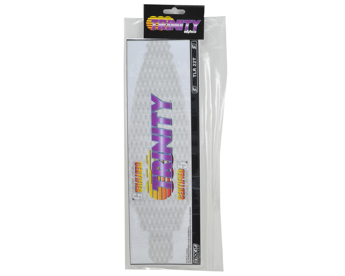 Team Trinity TLR 22T Precut Chassis Protective Sheet (White Carbon)