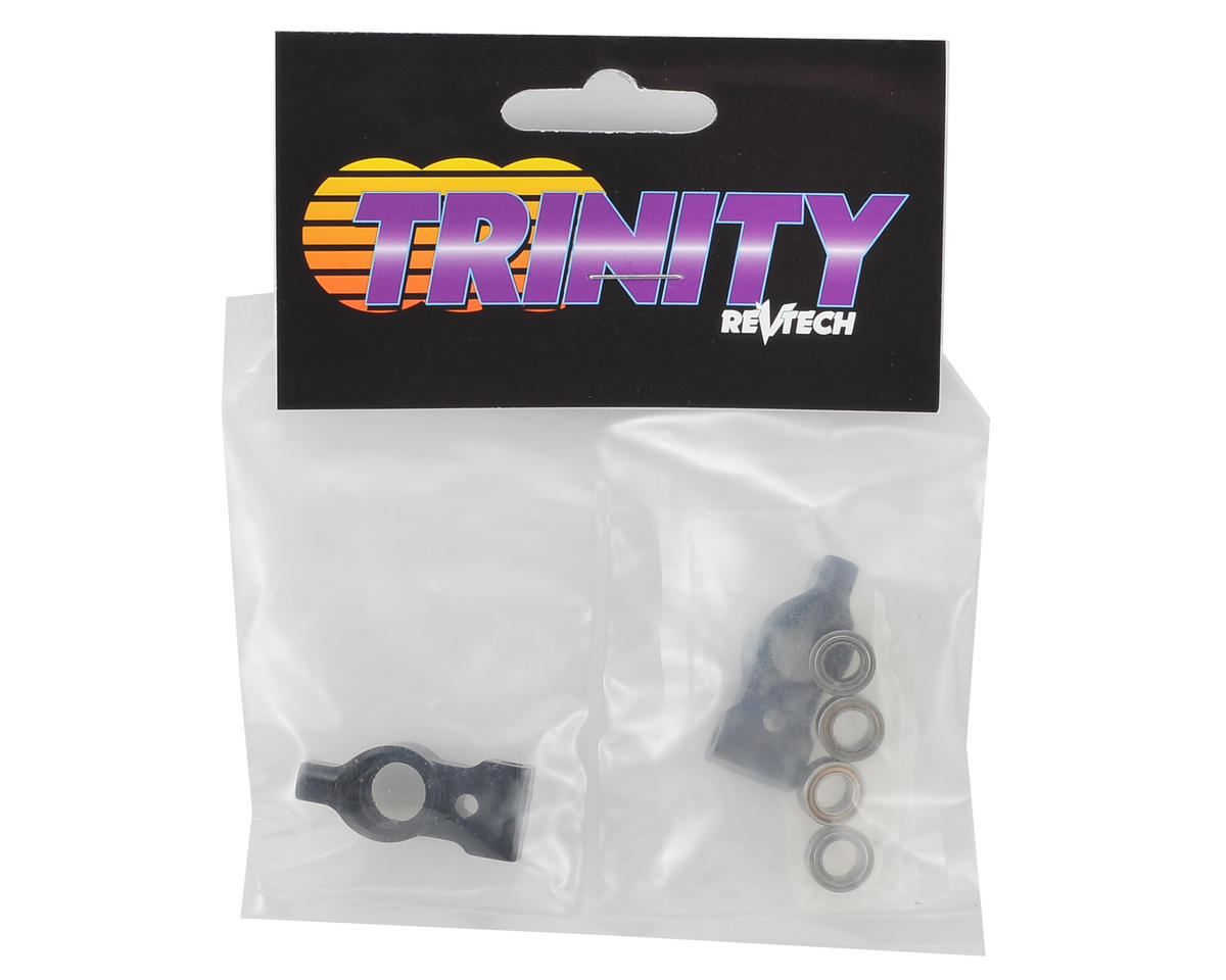 Team Trinity T4 Aluminum Rear Hubs w/Bearings (2) (0 Degree)