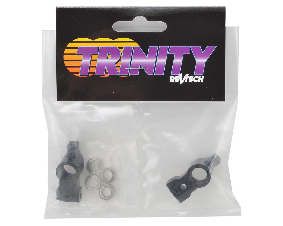 Team Trinity T4 Aluminum Rear Hubs w/ Bearings (2) (1 Degree)