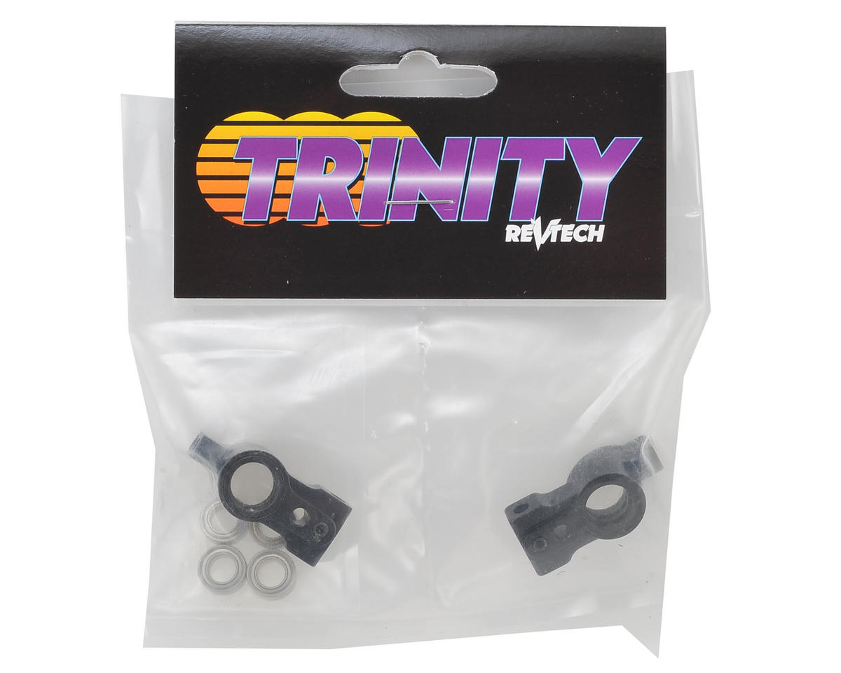 Team Trinity T4 Aluminum Rear Hubs w/ Bearings (2) (2 Degree)