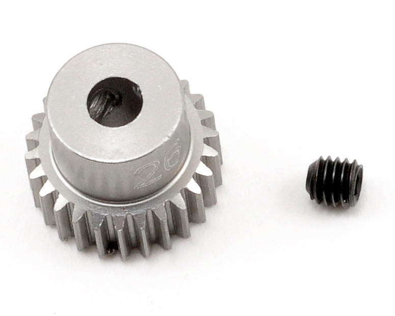 Team Trinity 64P Hard Anodized Aluminum Pinion Gear (26T)