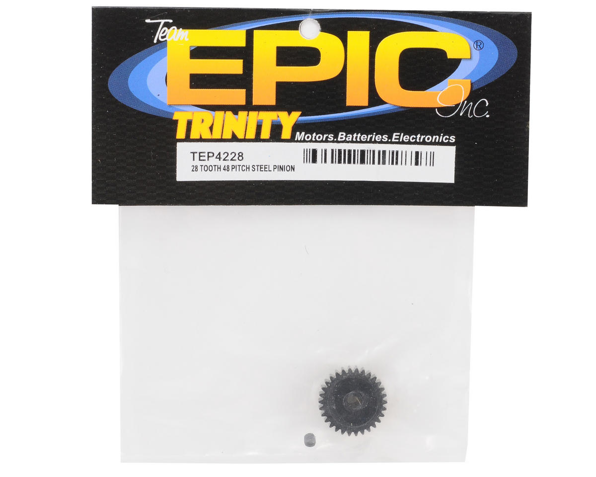 Team Trinity 48P Lightened Steel Pinion Gear (3.17mm Bore) (28T)