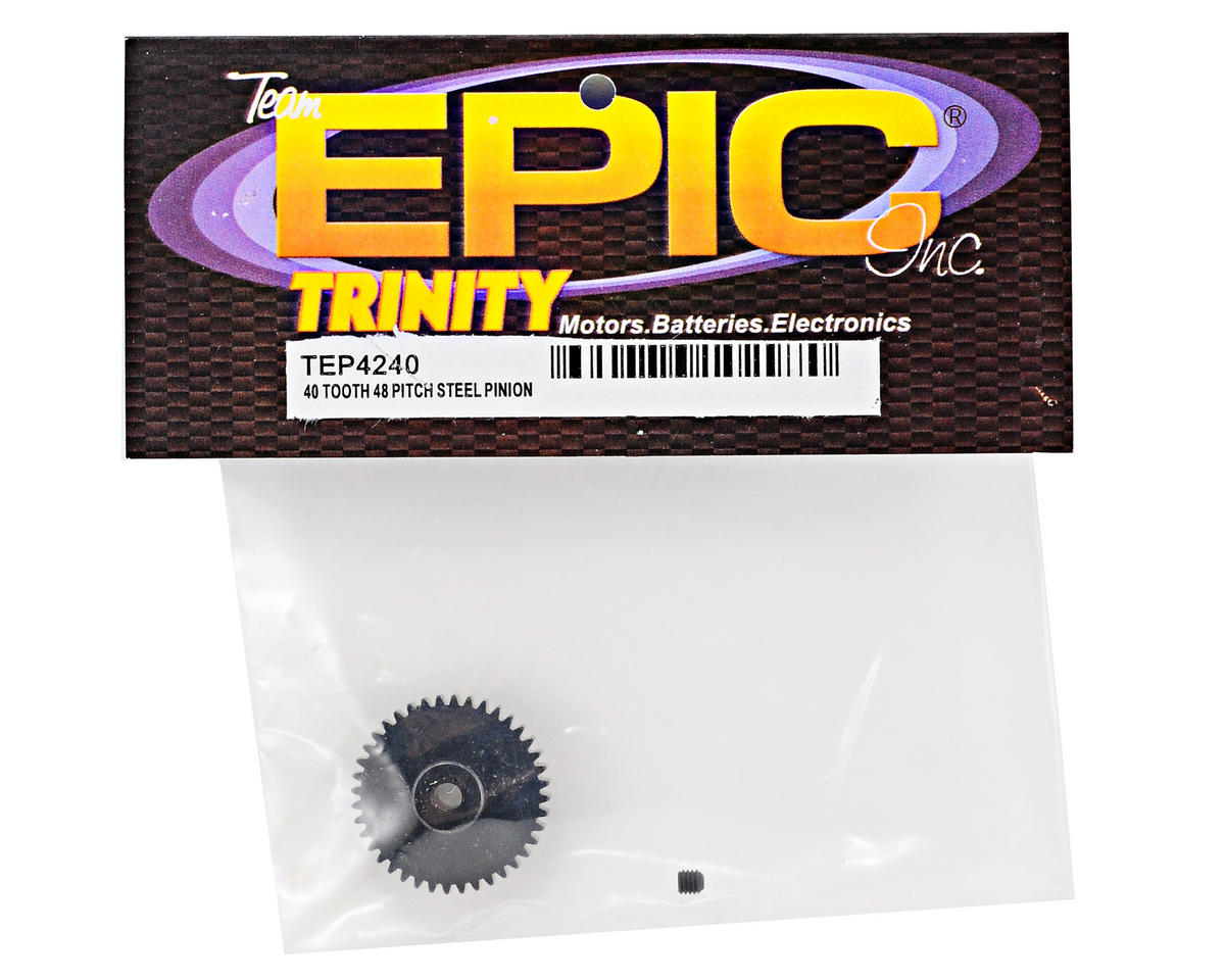 Team Trinity 48P Lightened Steel Pinion Gear (3.17mm Bore) (40T)