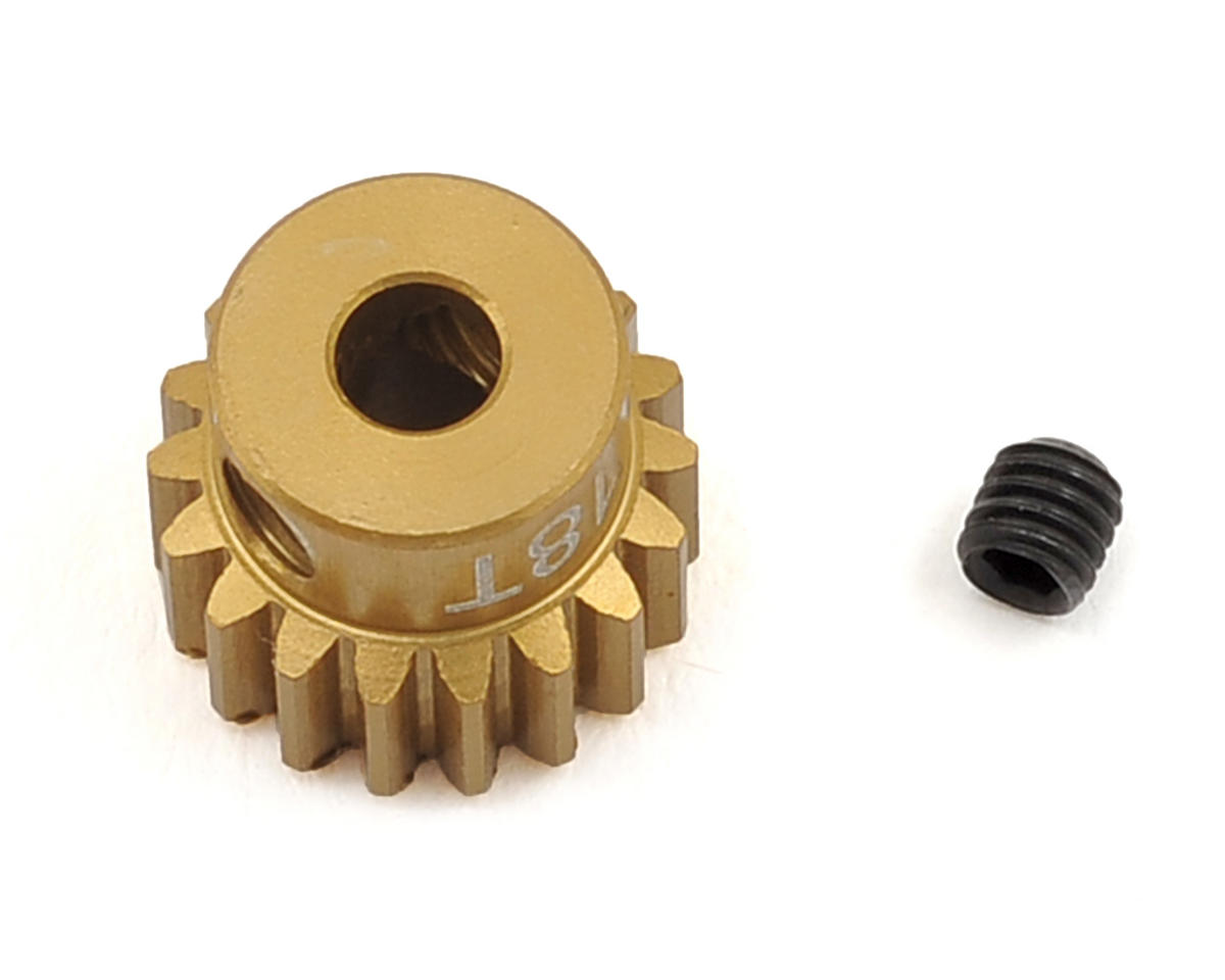48P Light Weight Aluminum Pinion Gear (3.17mm Bore) (18T) by Team Trinity