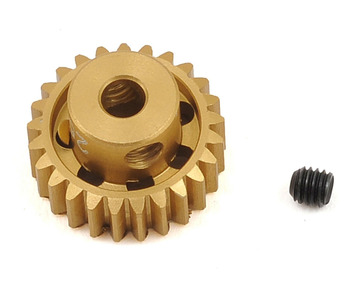 48P Light Weight Aluminum Pinion Gear (3.17mm Bore) (25T) by Team Trinity