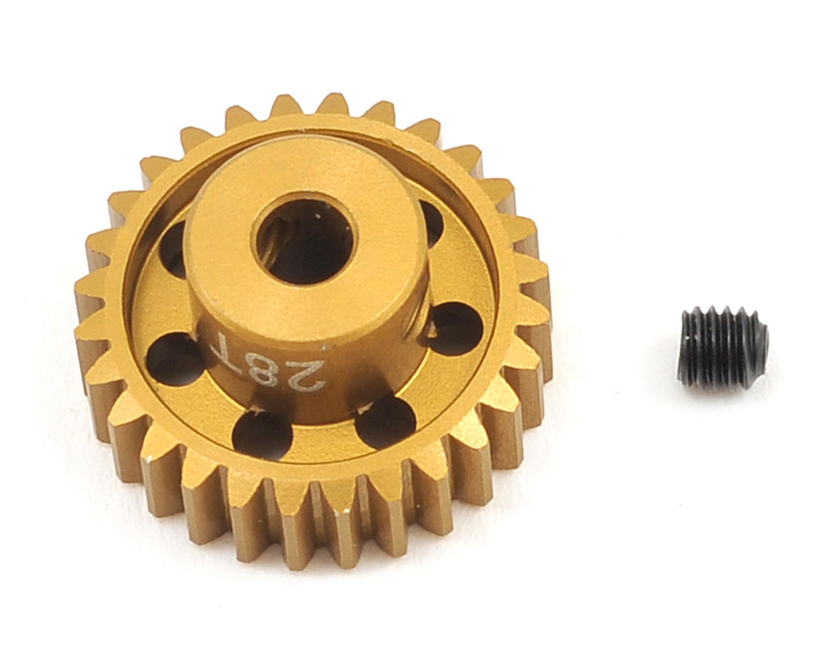 Team Trinity 48P Light Weight Aluminum Pinion Gear (3.17mm Bore) (28T)