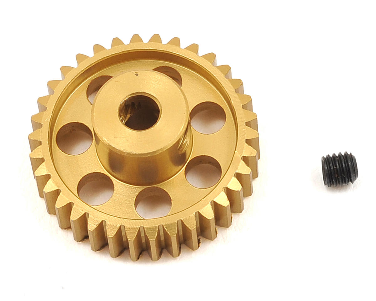 48P Light Weight Aluminum Pinion Gear (3.17mm Bore) (34T) by Team Trinity