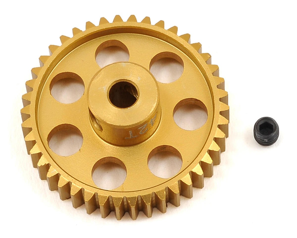 48P Light Weight Aluminum Pinion Gear (3.17mm Bore) (42T) by Team Trinity