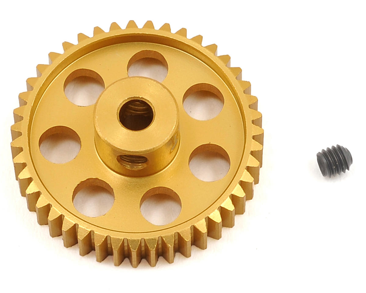 48P Light Weight Aluminum Pinion Gear (3.17mm Bore) (43T) by Team Trinity