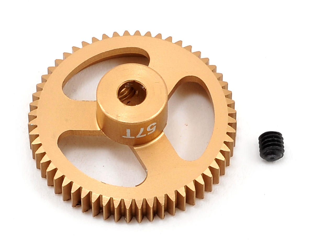 64P Featherweight Hard Anodized Aluminum Pinion Gear (57T) by Team Trinity
