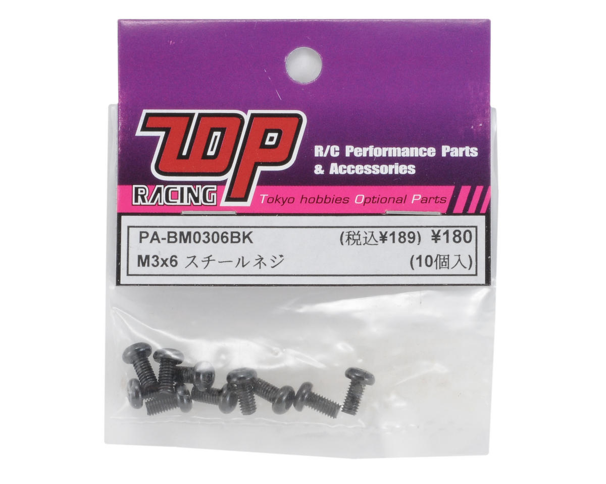 T.O.P Racing Products 3x6mm Button Head Screw (10)