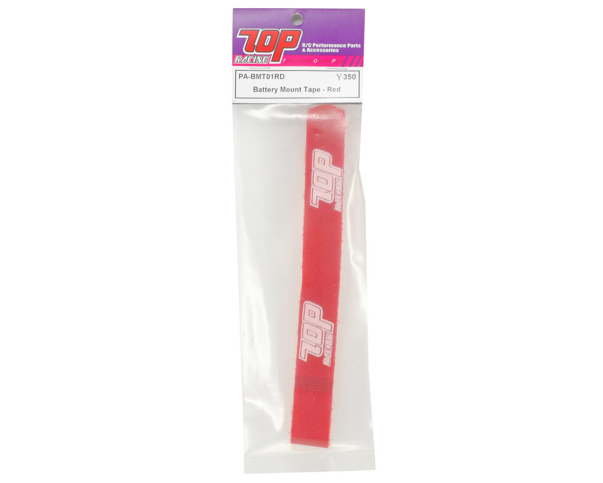 T.O.P Racing Products Battery Mount Strap (Red)