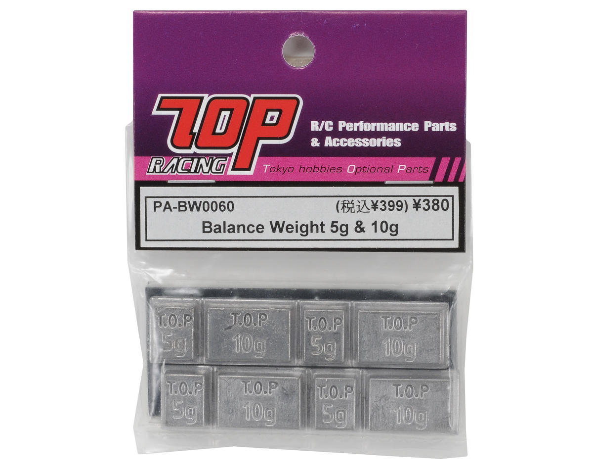T.O.P Racing Products 5g & 10g Chassis Balance Weights