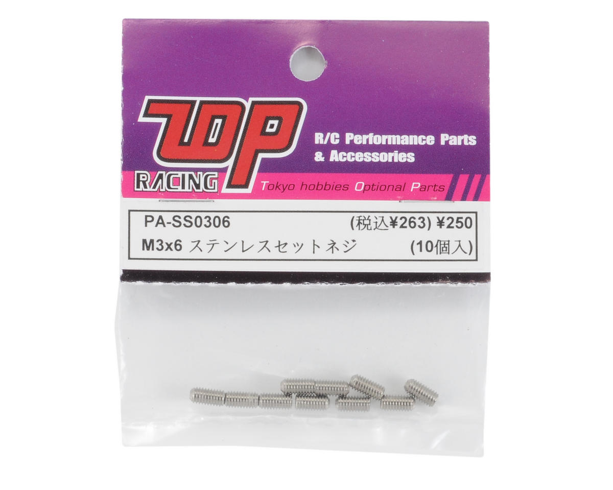 T.O.P Racing Products M3x6mm Stainless Steel Set Screw (10)