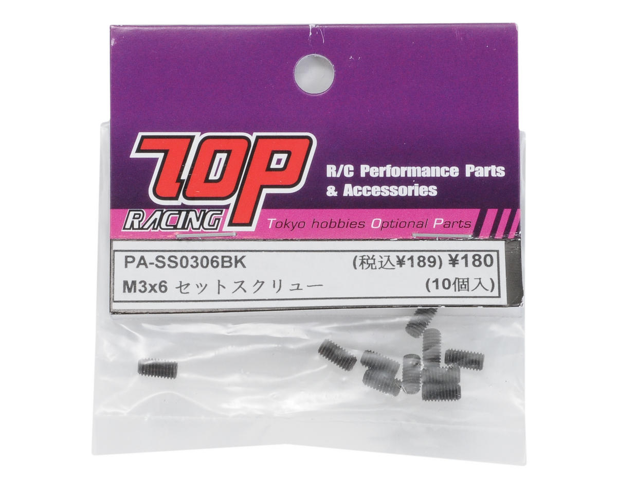 T.O.P Racing Products 3x6mm Steel Set Screw (10)