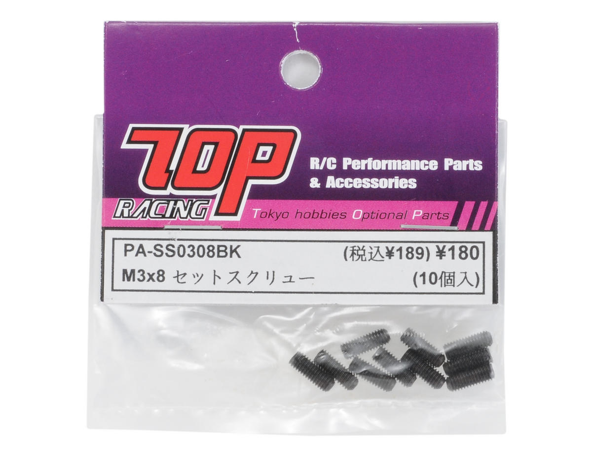 T.O.P Racing Products 3x8mm Steel Set Screw (10)