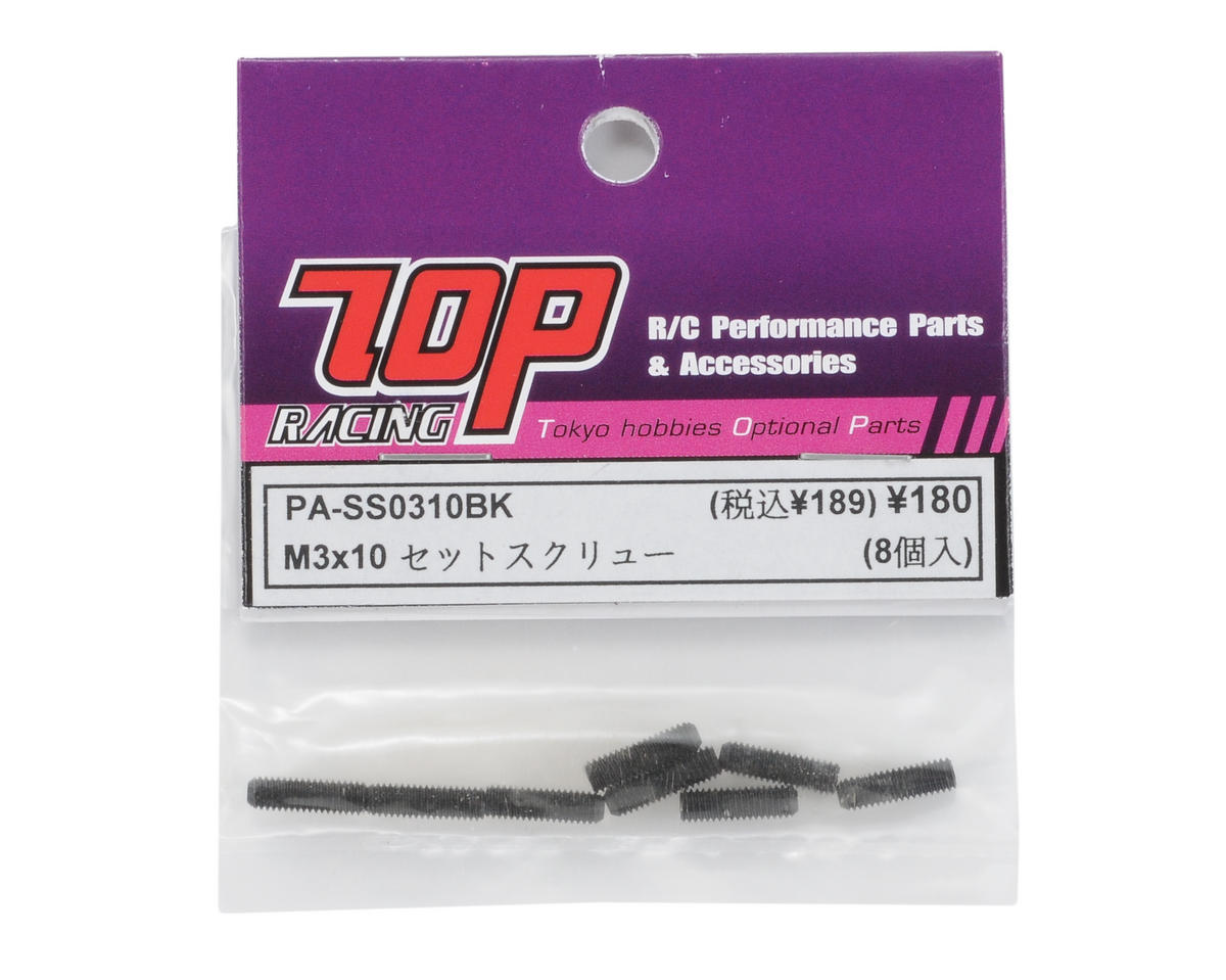 T.O.P Racing Products 3x10mm Steel Set Screw (8)