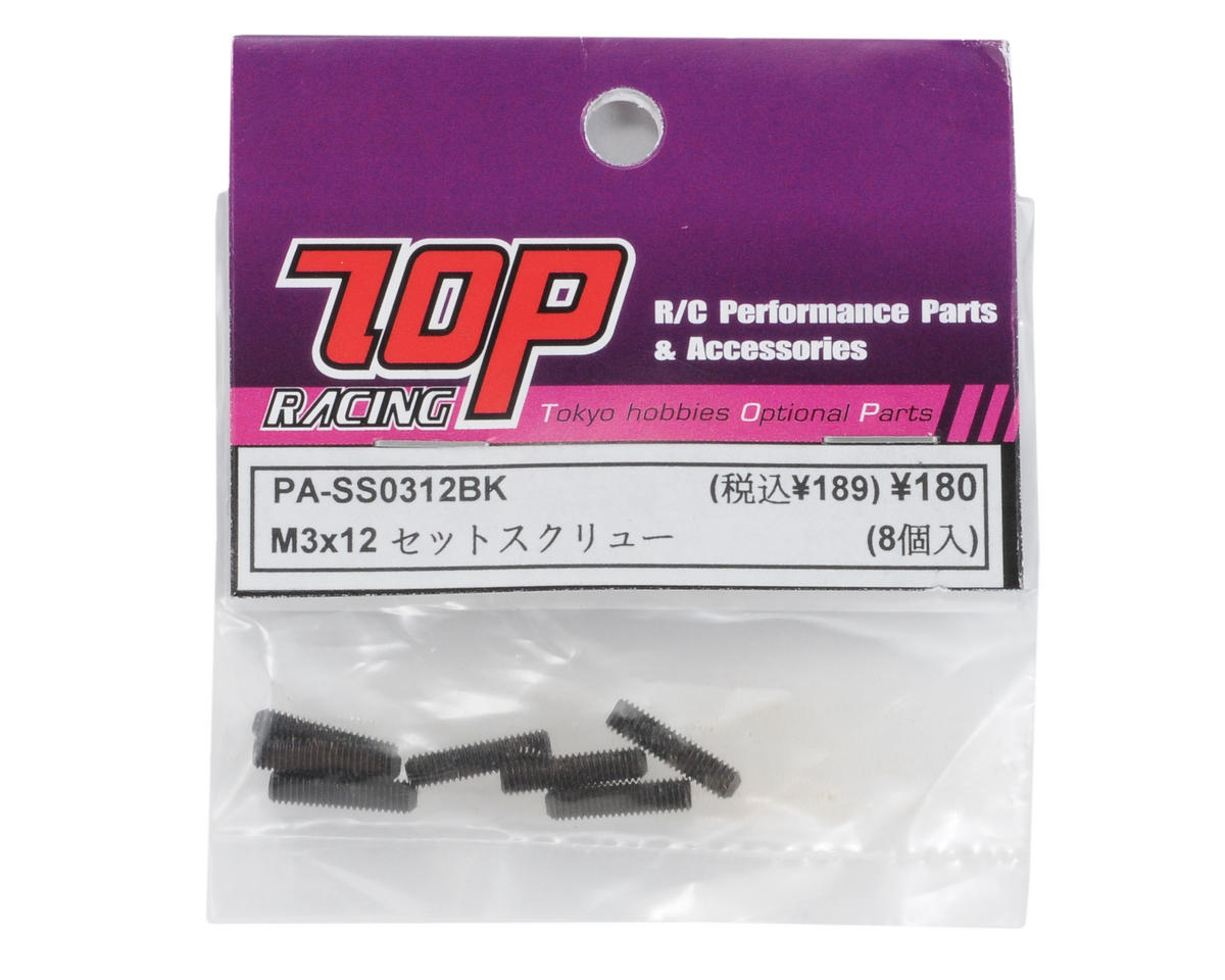 T.O.P Racing Products 3x12mm Steel Set Screw (8)