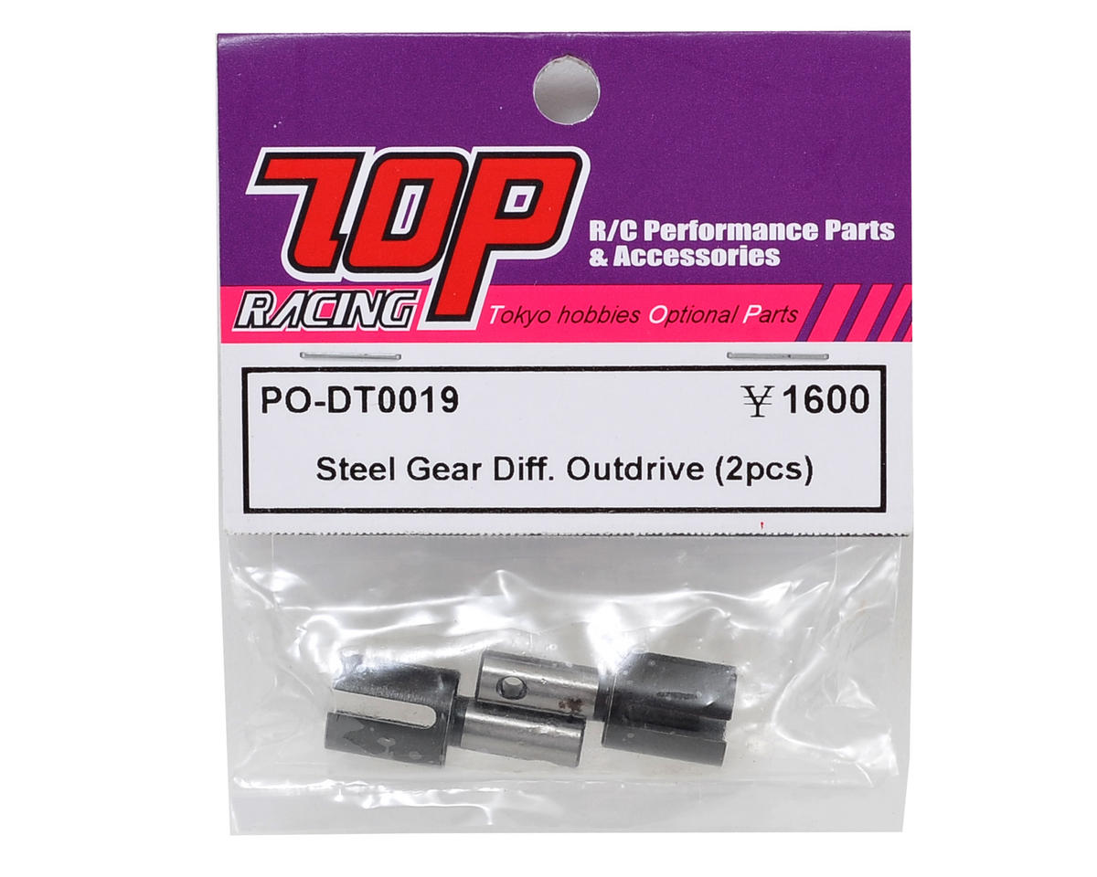 T.O.P Racing Products Steel Gear Differential Outdrive Set (2)