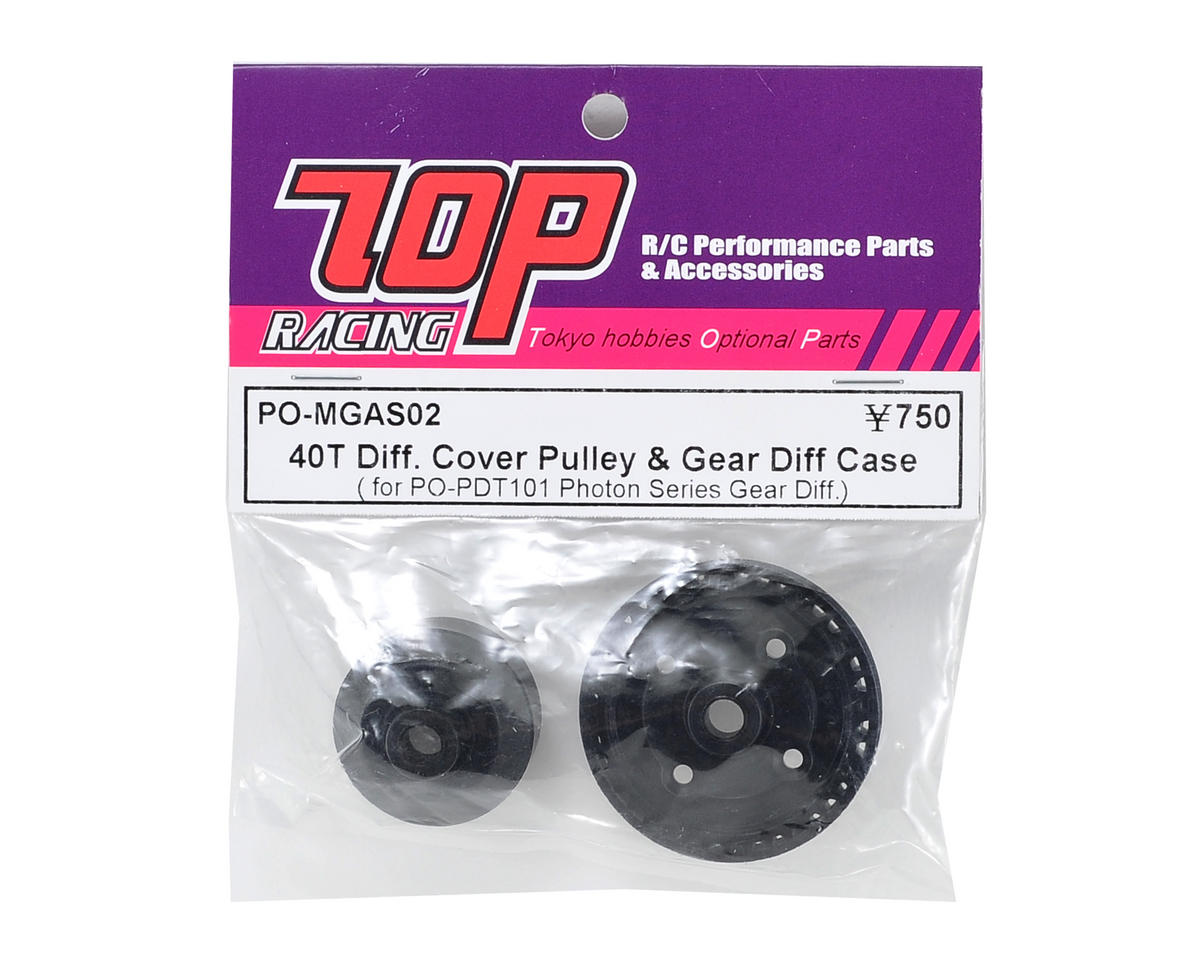 T.O.P Racing Products 40T Gear Differential Cover Pulley & Case