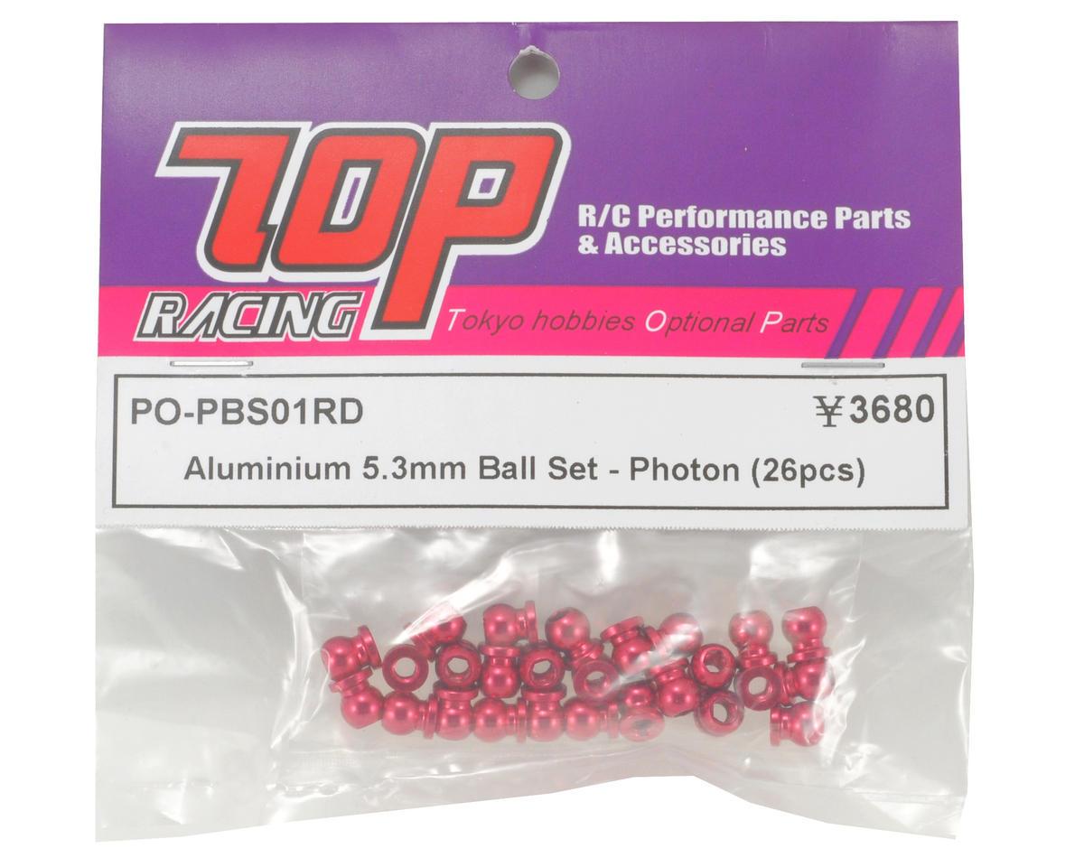 T.O.P Racing Products 5.3mm Aluminum Pivot Ball Set (26) (Photon)