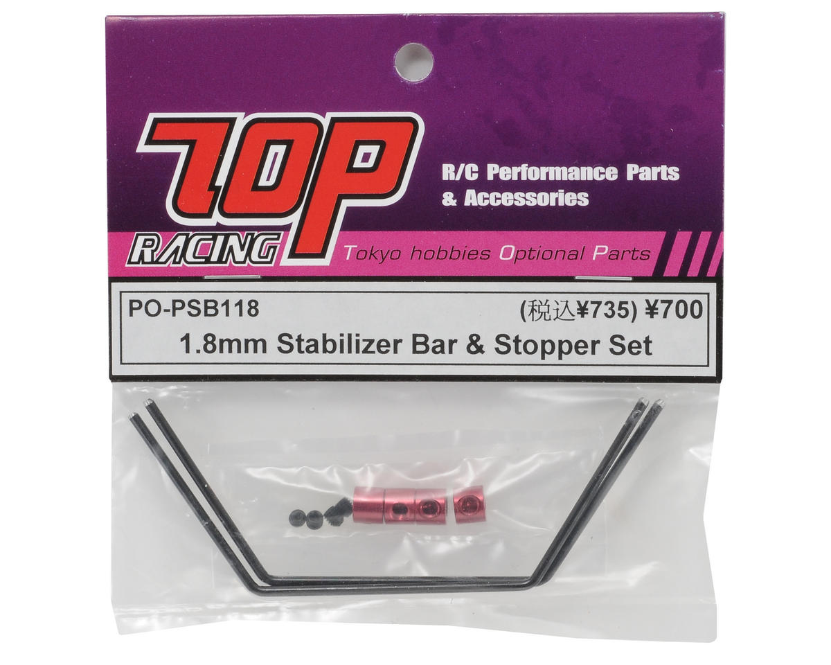 T.O.P Racing Products 1.8mm Stabilizer Bar & Stopper Set