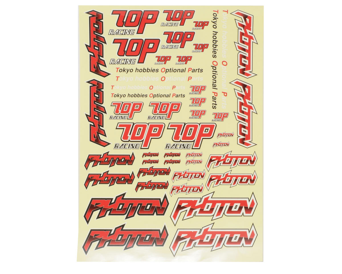 T.O.P Racing Products Photon Decal Sheet