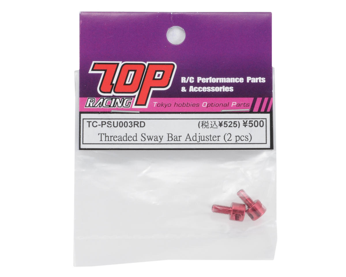 T.O.P Racing Products Threaded Sway Bar Adjuster (Red) (2)