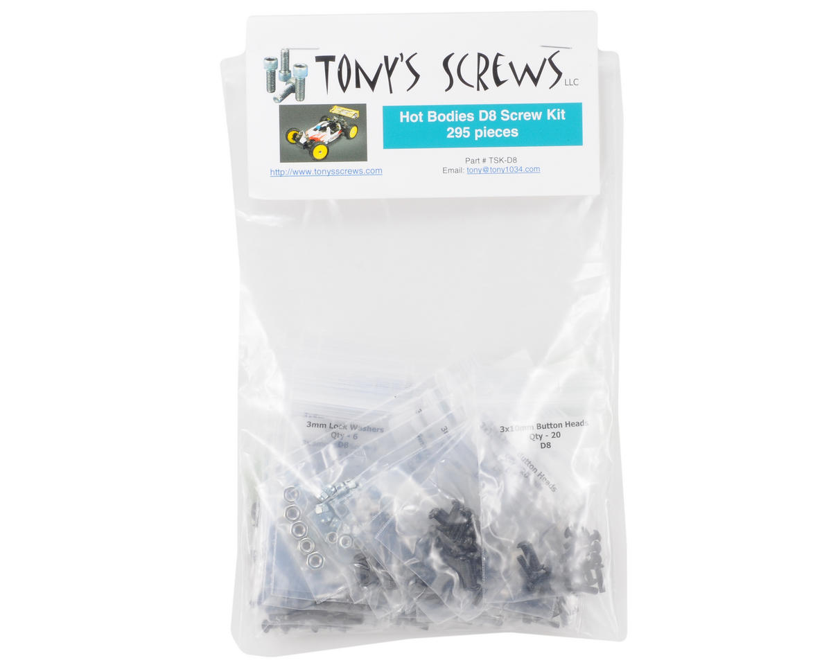 Tonys Screws Hot Bodies D8 Screw Kit