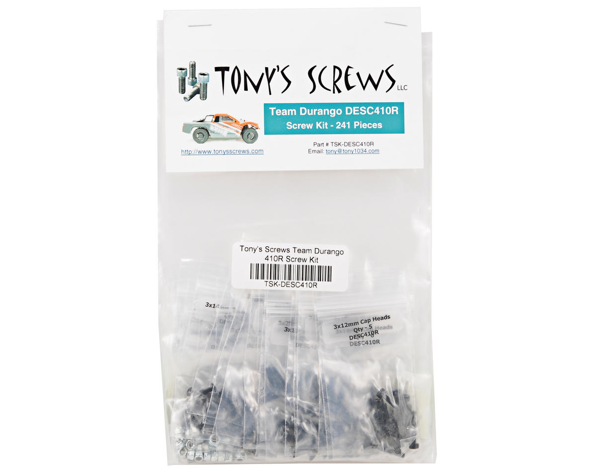Tonys Screws Team Durango DESC410R Screw Kit