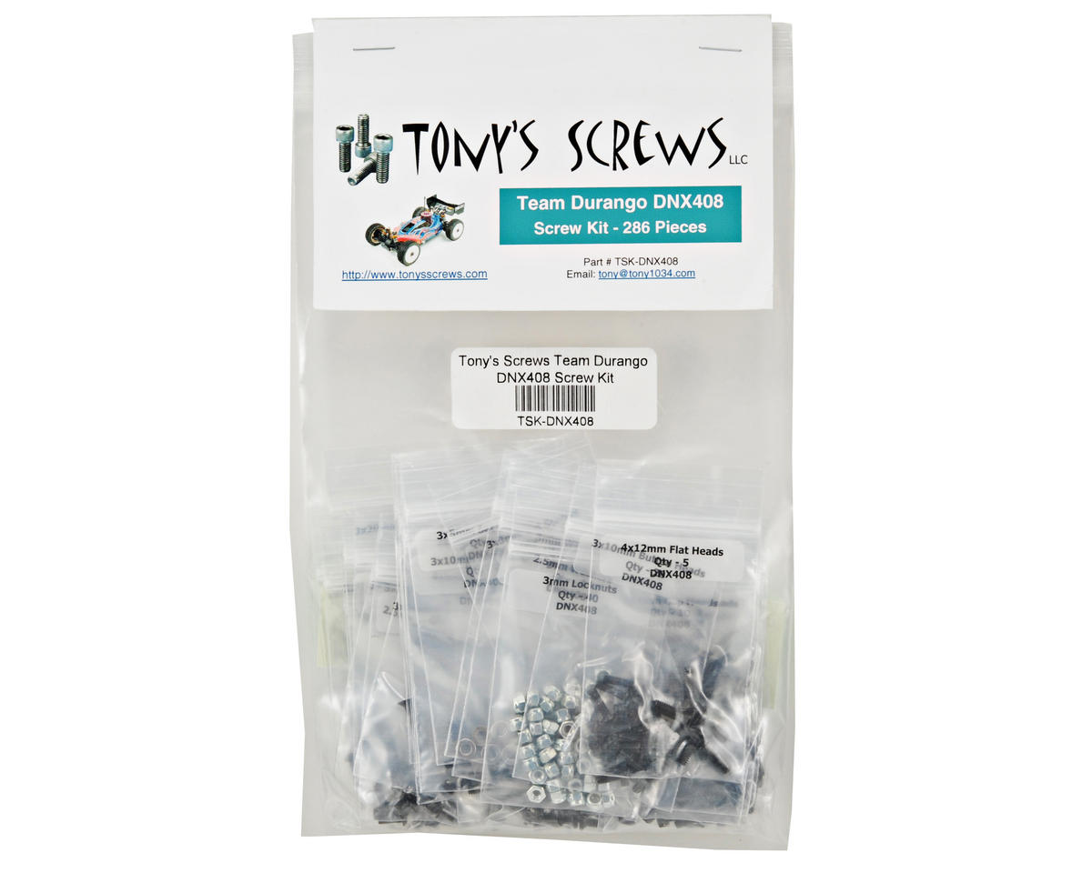 Tonys Screws Team Durango DNX408 Screw Kit