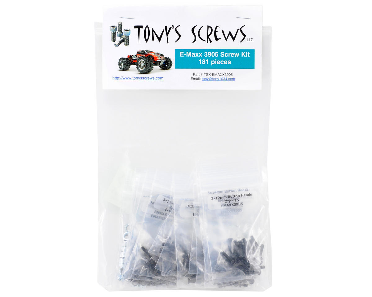 Traxxas E-Maxx 3905 Screw Kit by Tonys Screws