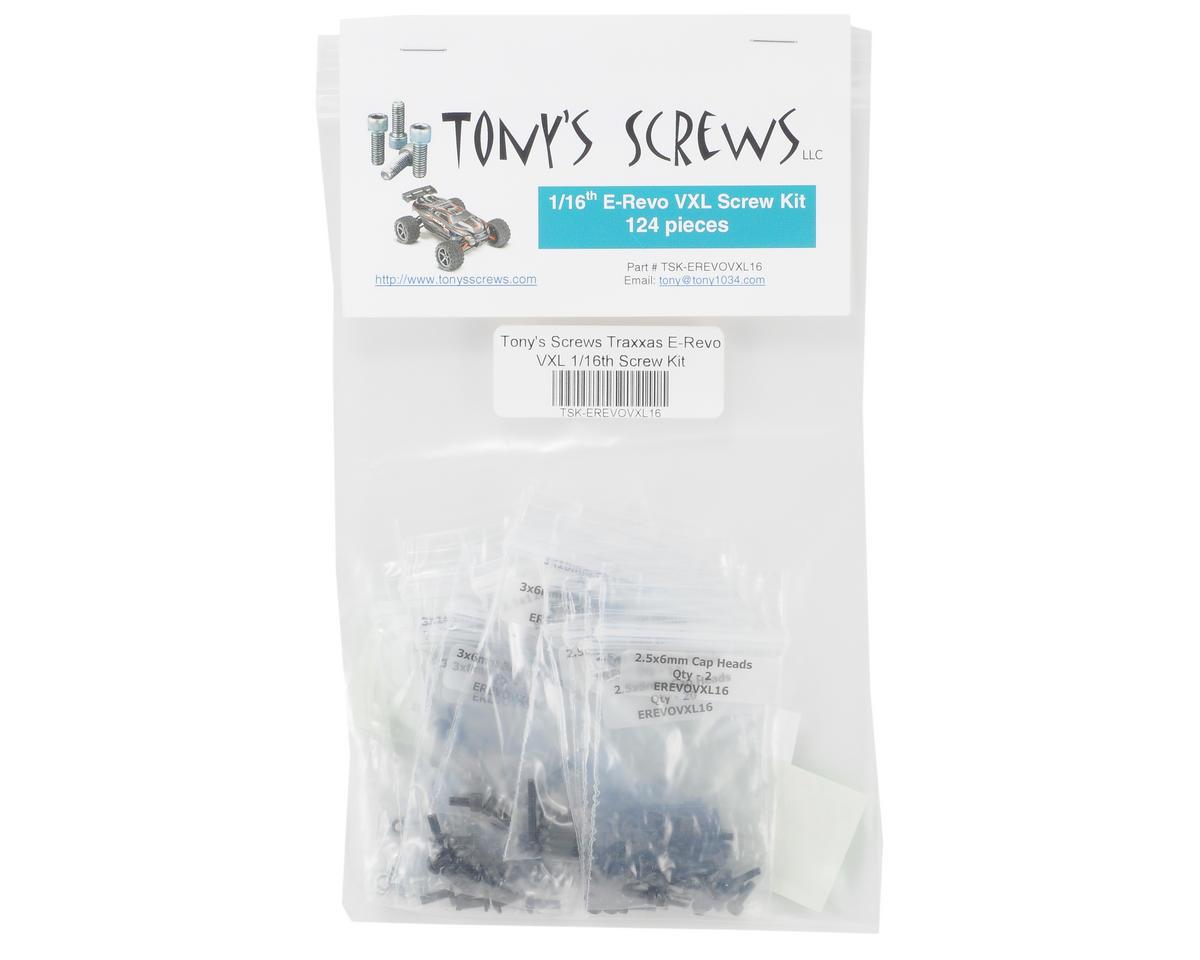 TSK-EREVOVXL16 Tonys Screws Traxxas E-Revo VXL 1//16th Screw Kit