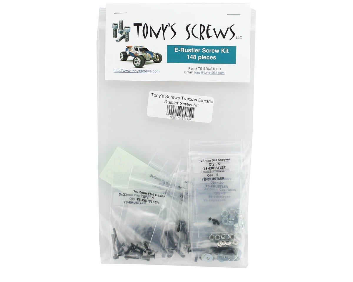 Tonys Screws Traxxas Electric Rustler Screw Kit