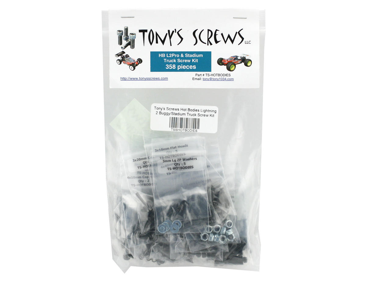 Tonys Screws Hot Bodies Lightning 2 Buggy/Stadium Truck Screw Kit