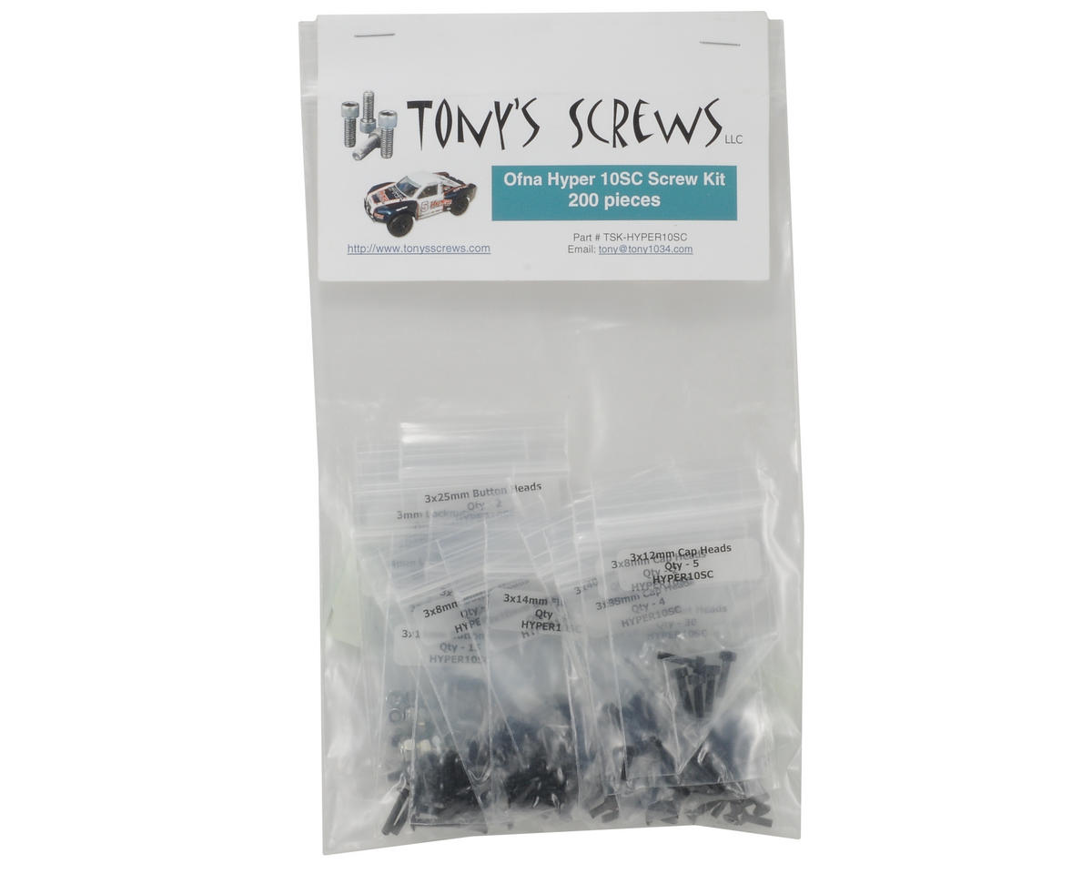Tonys Screws Hyper10SC Screw Kit