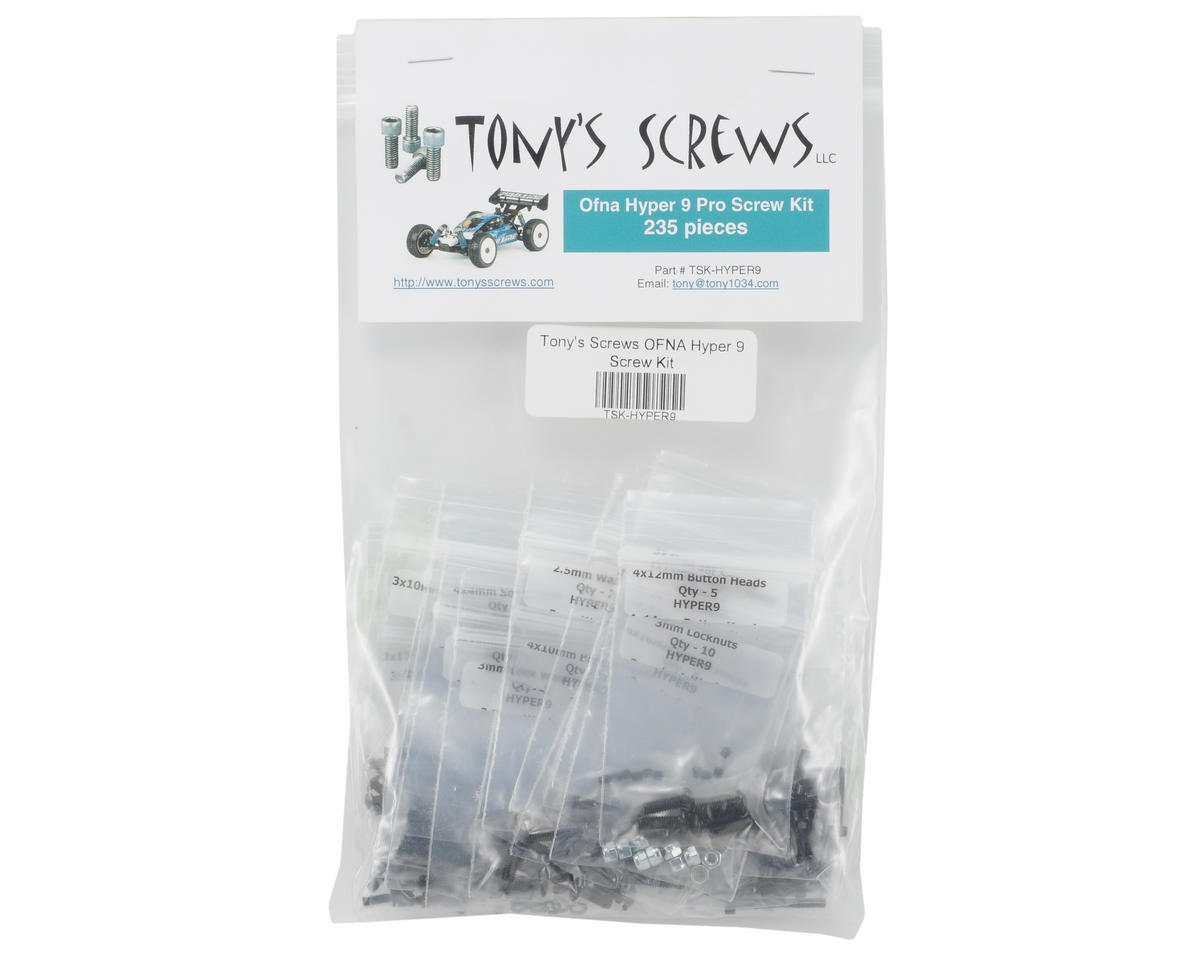 Tonys Screws Hyper 9 Screw Kit