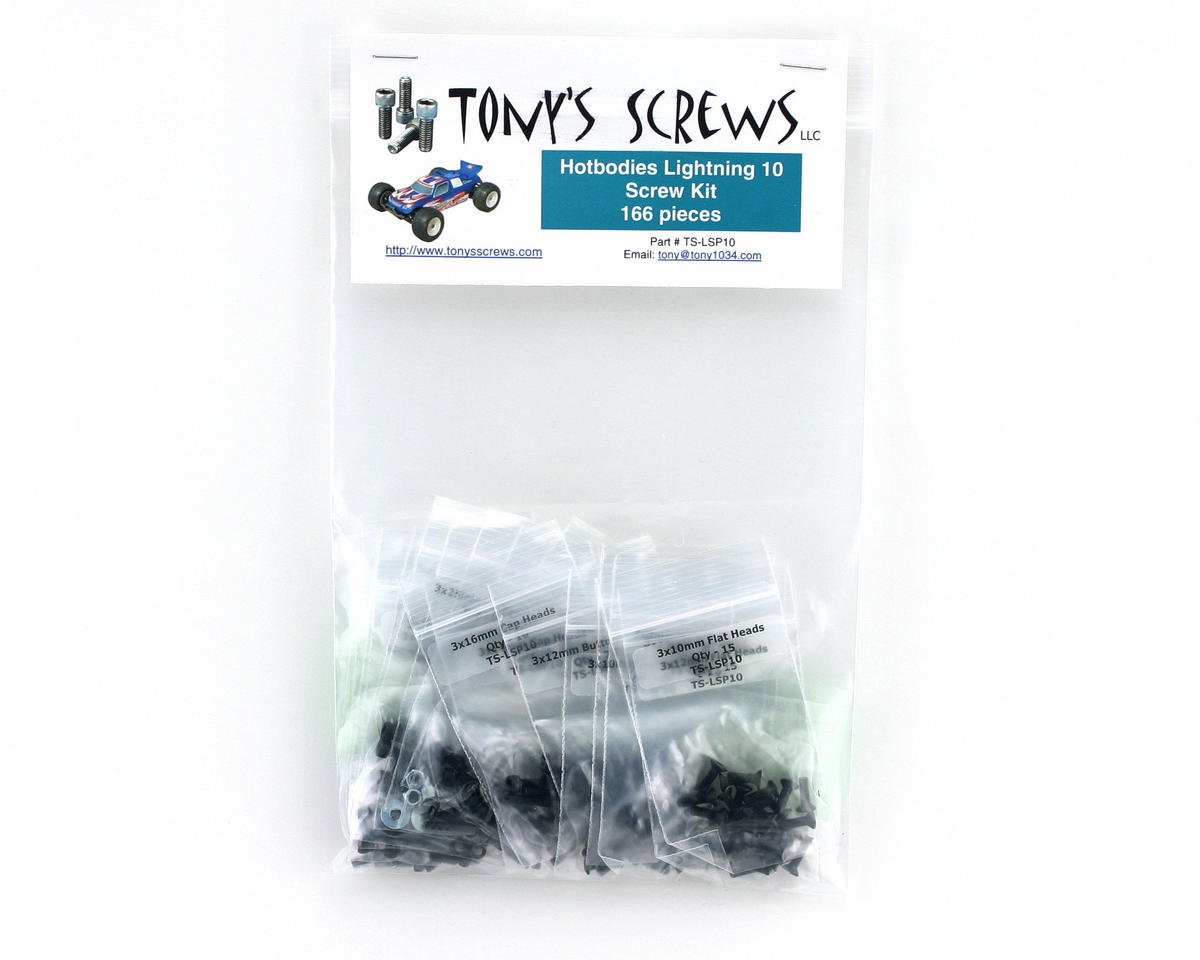 Tonys Screws Hot Bodies Lightning Stadium 10 Screw Kit