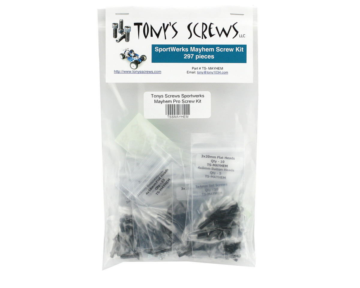 Tonys Screws Sportwerks Mayhem Pro Screw Kit