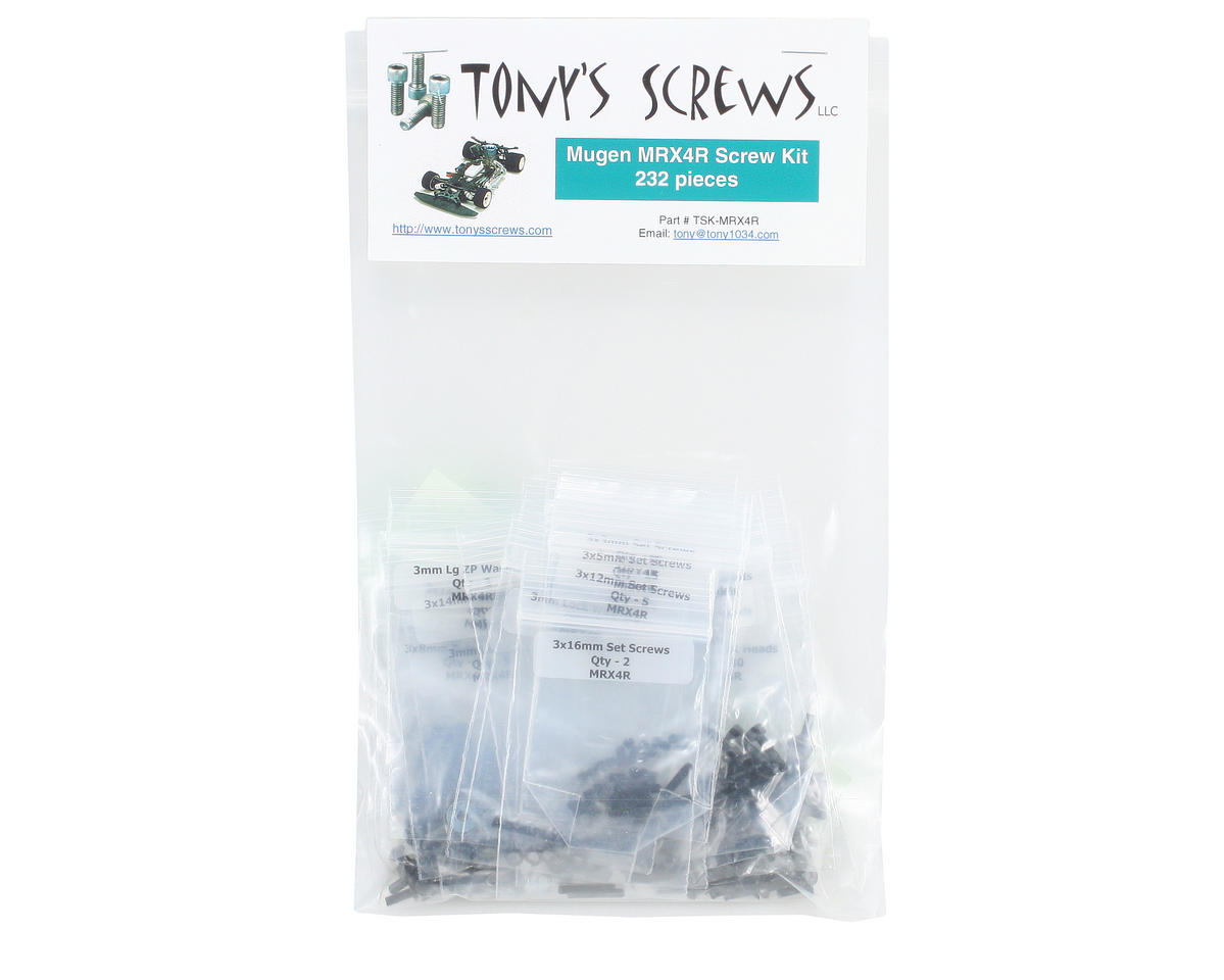 Tonys Screws Mugen MRX4R Screw Kit