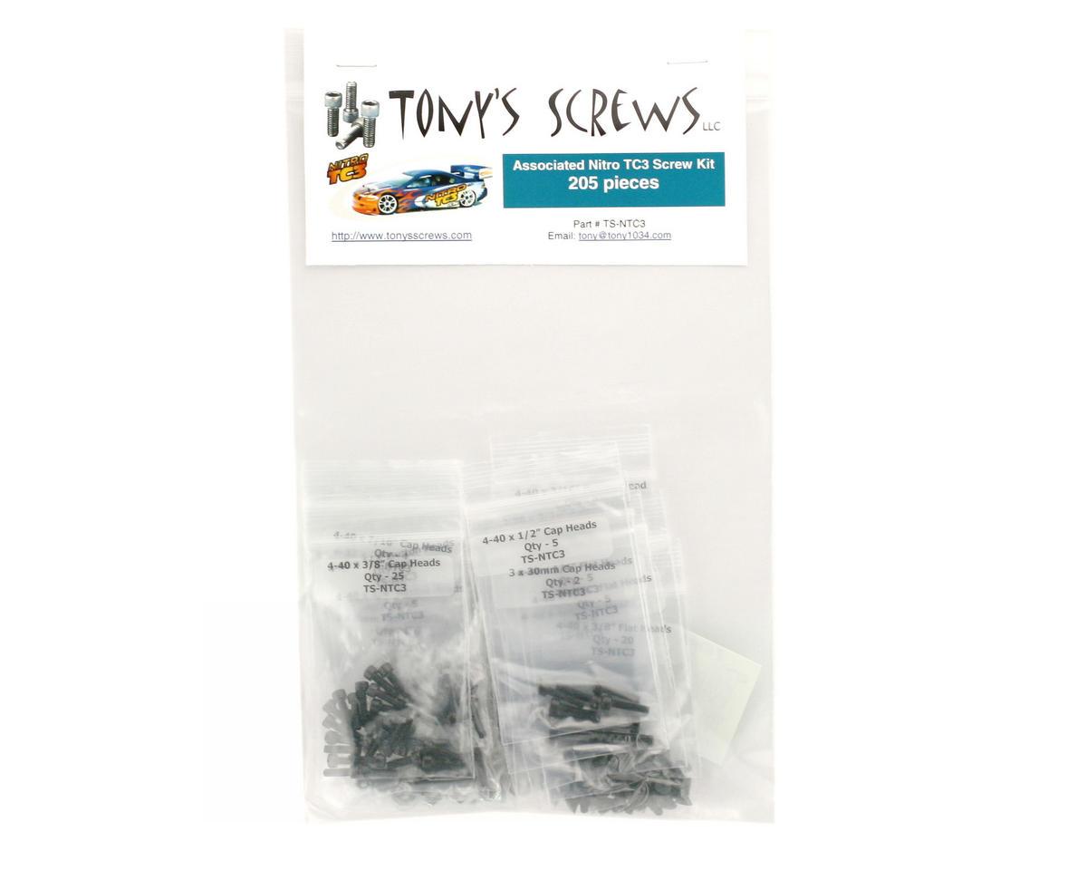 Tonys Screws Team Associated Nitro TC3 Screw Kit