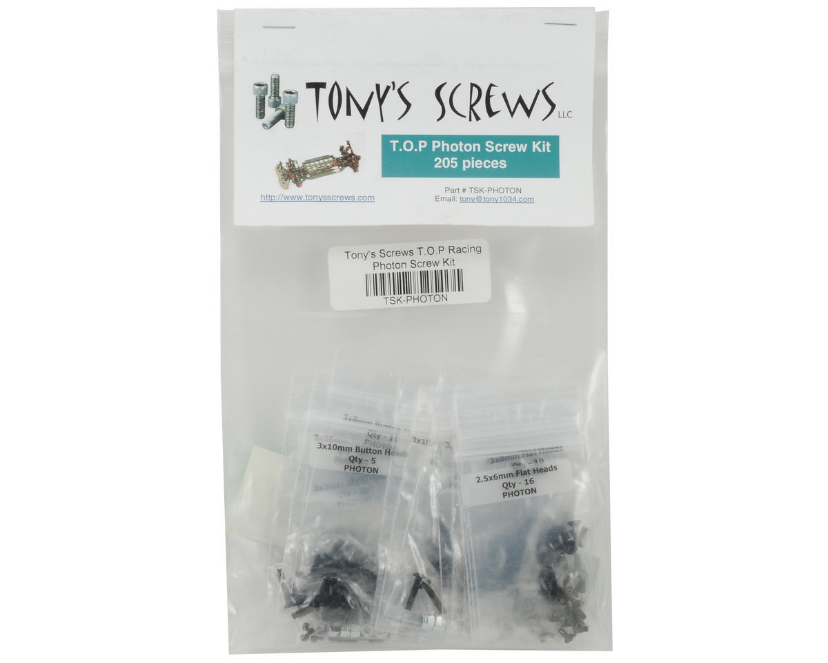 Tonys Screws T.O.P Racing Photon Screw Kit