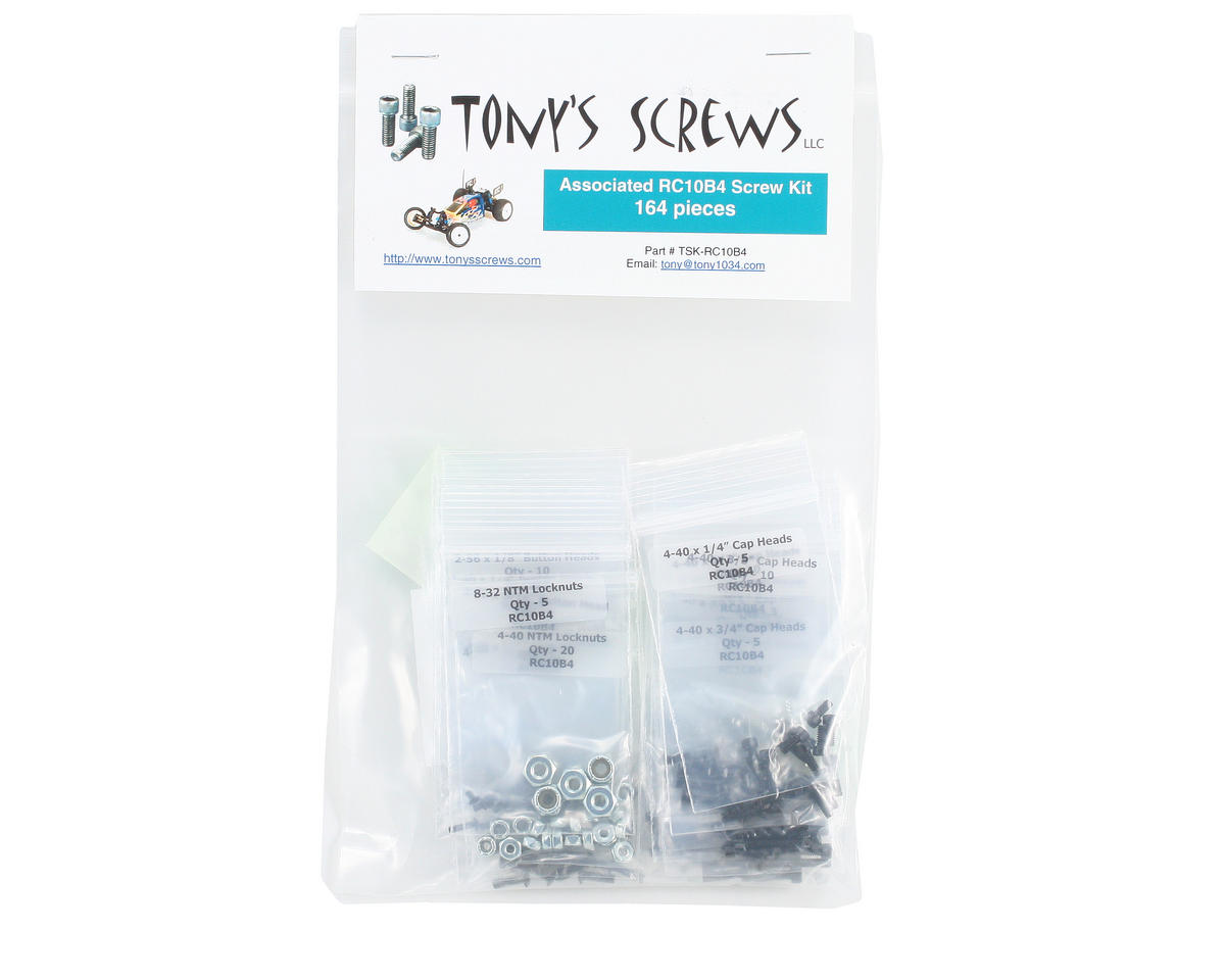 Tonys Screws Associated RC10B4 Screw Kit