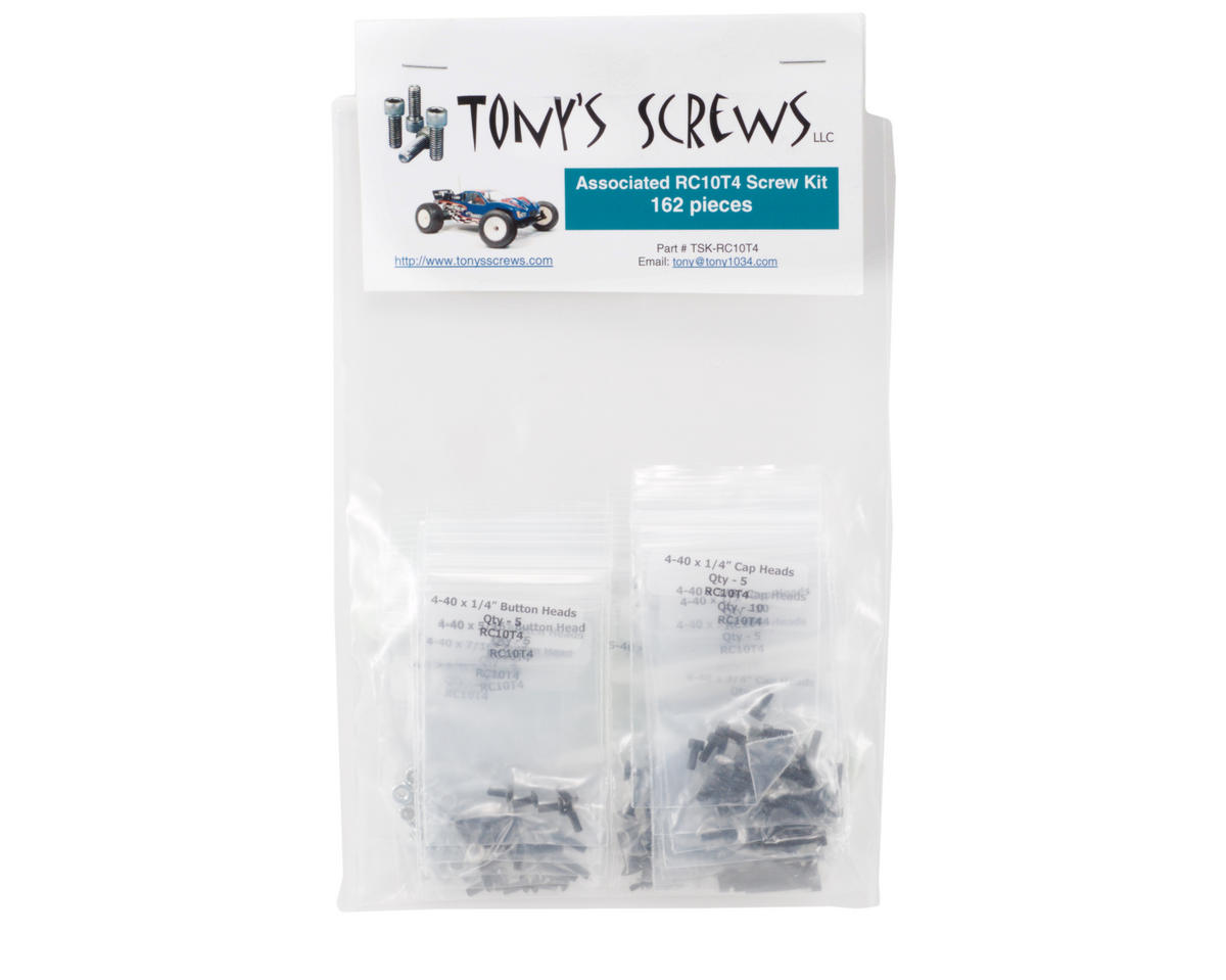 Tonys Screws Associated RC10 T4 Screw Kit