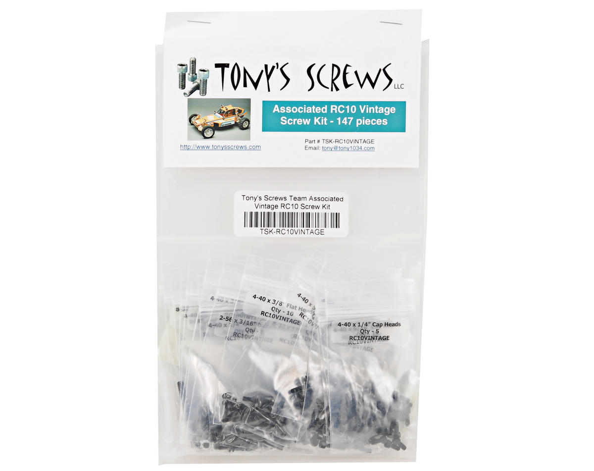 Tonys Screws Team Associated RC10 Gold Tub Screw Kit