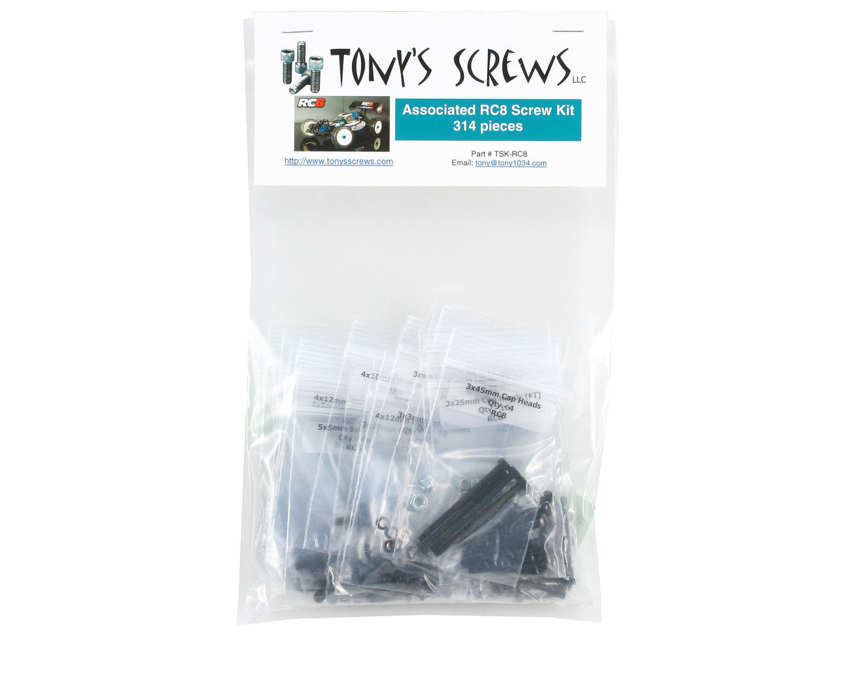 Tonys Screws Team Associated RC8 Screw Kit
