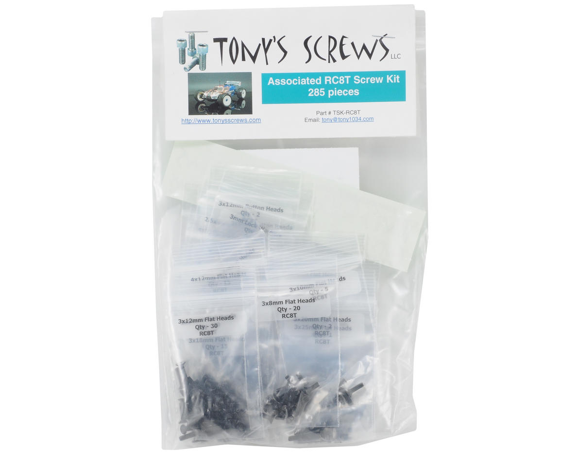 Tonys Screws Team Associated RC8T Screw Kit