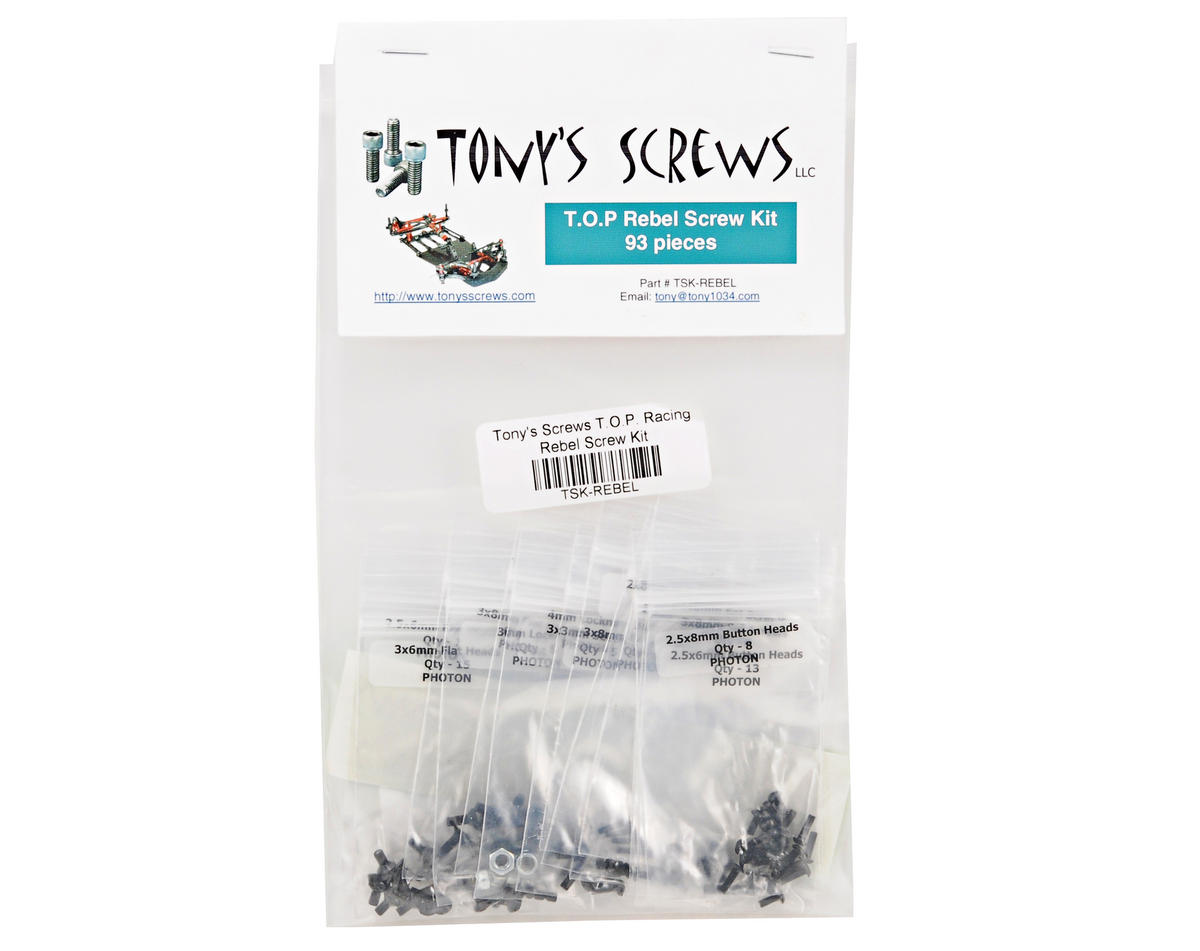 Tonys Screws T.O.P. Racing Rebel Screw Kit