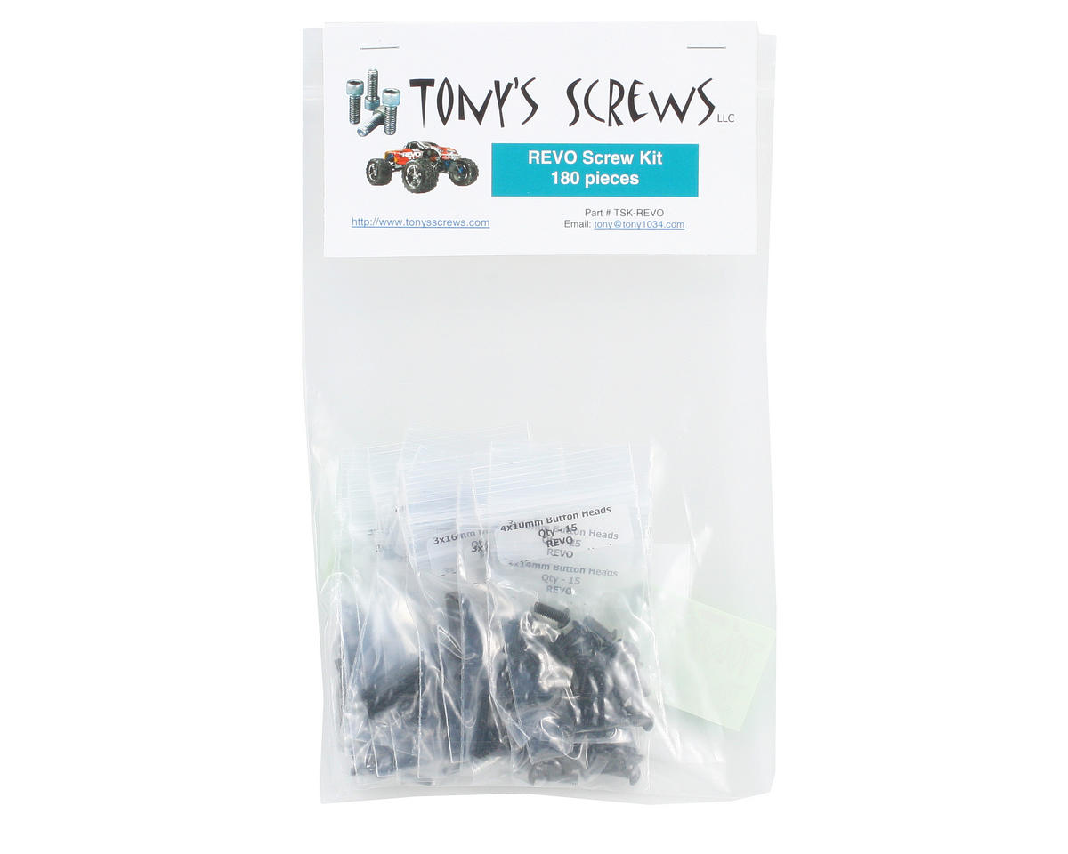 Tonys Screws Traxxas Revo Screw Kit